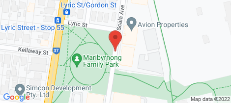 Location map for 309/88 La Scala Avenue Maribyrnong