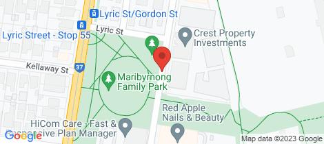 Location map for 403/86 La Scala Avenue Maribyrnong