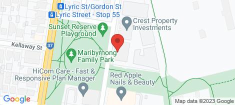 Location map for 110/88 La Scala Avenue Maribyrnong