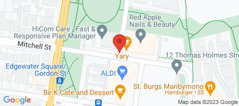 Location map for 102/80 La Scala Avenue Maribyrnong