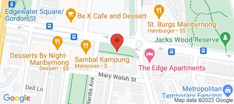 Location map for 109/60 Edgewater Boulevard Maribyrnong