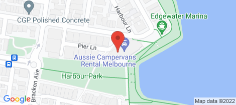 Location map for 108/20 Pier Lane Maribyrnong