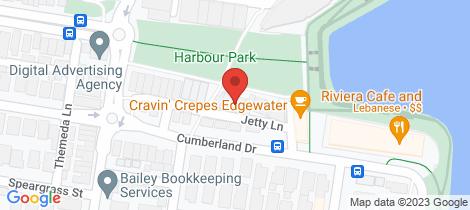 Location map for 25 Jetty Lane Maribyrnong