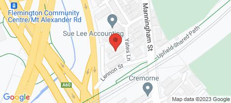 Location map for 17/10-12 Lennon Street Parkville