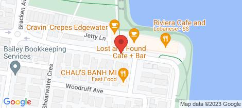 Location map for 203/55 Cumberland Drive Maribyrnong