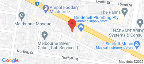 Location map for 33 Ballarat Rd Maidstone