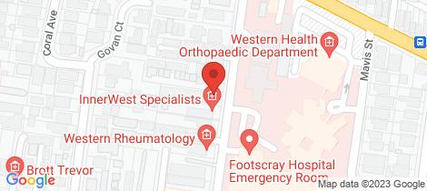 Location map for 104/14 Eleanor Street Footscray