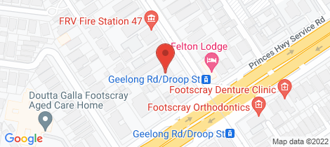 Location map for 107/61 Droop Street Footscray