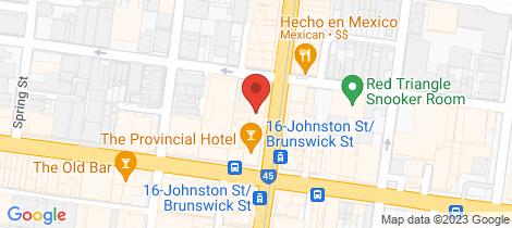 Location map for 307 Brunswick Street Fitzroy