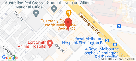 Location map for 316/3-11 High Street North Melbourne