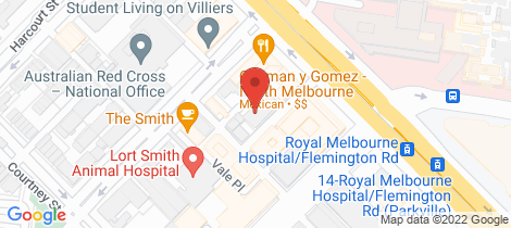 Location map for 119/3-11 High Street North Melbourne