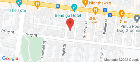 Location map for 94 Dight  Street Collingwood
