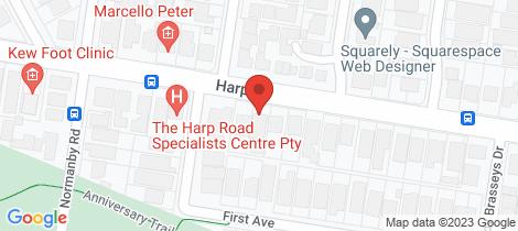 Location map for 86B Harp Road Kew