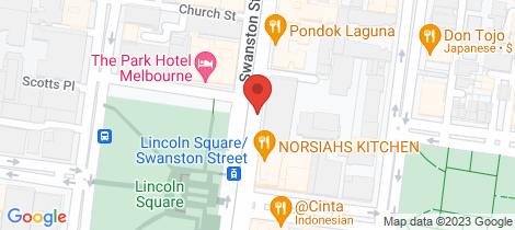 Location map for 606/613 Swanston Street Carlton