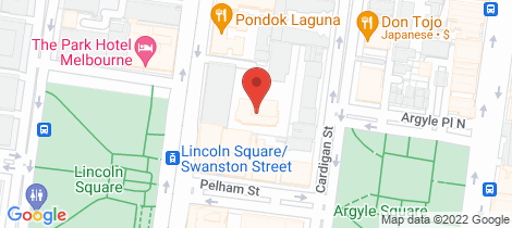 Location map for 405B/640 Swanston Street Carlton