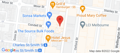 Location map for Level 1/79 Little Oxford Street Collingwood