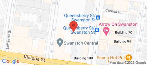 Location map for 3018/555 Swanston Street Carlton