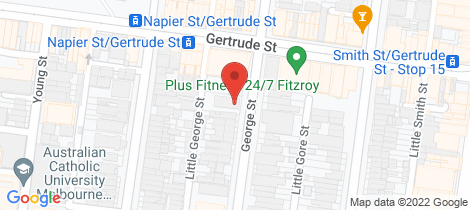 Location map for 12/65 George Street Fitzroy