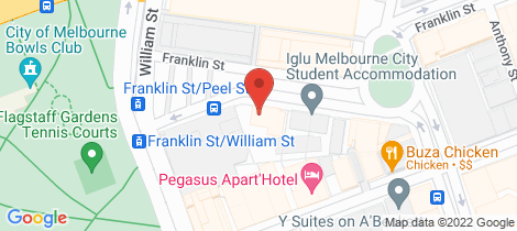 Location map for 722/199 William Street Melbourne