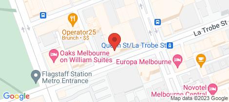 Location map for 48/398 Latrobe Street Melbourne