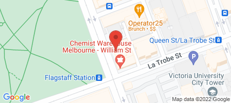 Location map for 2904/350 William Street Melbourne