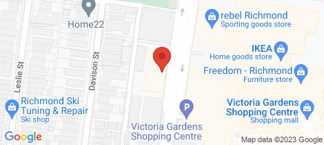 Location map for 606/20 Burnley Street Richmond