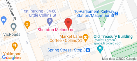 Location map for 2901/27 Little Collins Street Melbourne