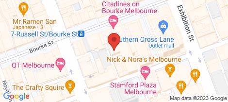 Location map for 908/22 Coromandel Place Melbourne