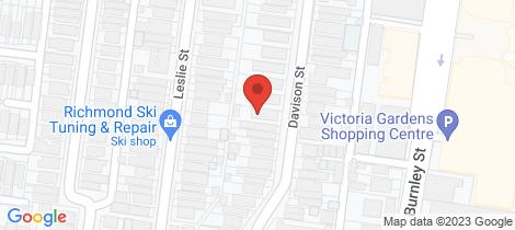 Location map for 7/36 Davison Street Richmond