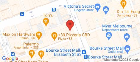 Location map for 501/225 Elizabeth Street Melbourne