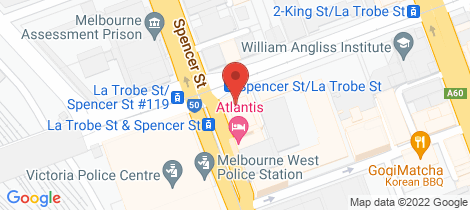 Location map for 820/585 La Trobe Street Melbourne