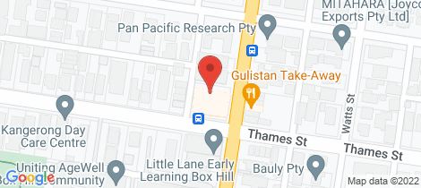 Location map for 309/761 Station Street Box Hill North