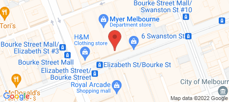 Location map for Lot 310/318 Little Bourke Street Melbourne