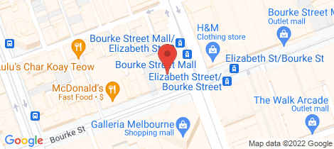 Location map for Level 1/4 Warburton Alley Melbourne