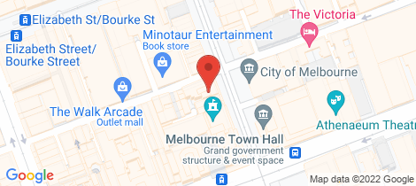 Location map for 804 & 805/125 Swanston Street Melbourne