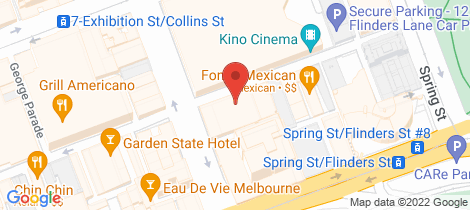 Location map for 503/73 Flinders Lane Melbourne