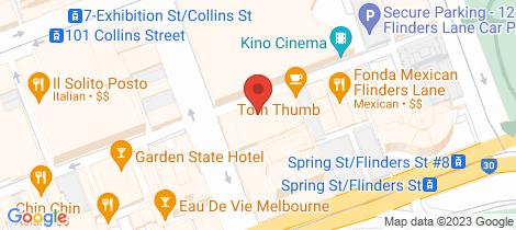 Location map for 503/73 Flinders Lane Melbourne