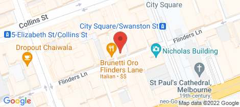 Location map for 511/238-244 Flinders Lane Melbourne