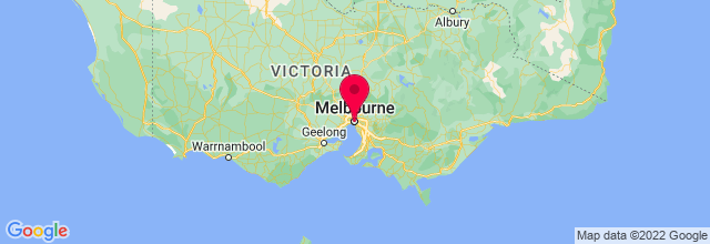 Map of Melbourne, VIC, Australia
