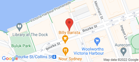 Location map for 8H/8 Waterside Place Docklands