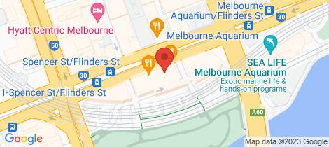 Location map for 1225/555 Flinders Street Melbourne