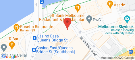 Location map for 1402/1 Freshwater Place Southbank