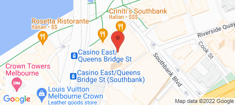 Location map for 3909/1 Queensbridge Square Southbank