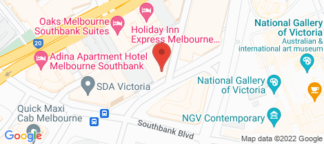 Location map for 18 Fanning Street Southbank
