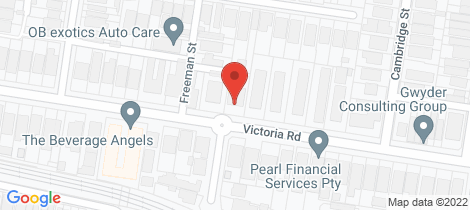 Location map for 105B Victoria Road Hawthorn East