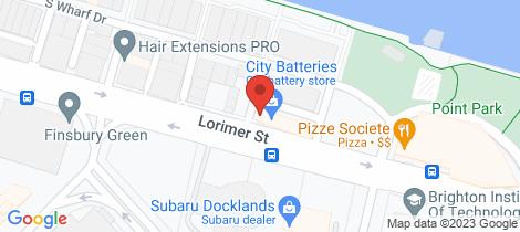 Location map for 132 Lorimer Street Docklands