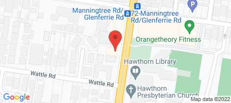 Location map for 6/587 Glenferrie Road Hawthorn
