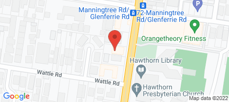 Location map for Unit 4/587 Glenferrie Road Hawthorn