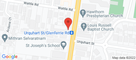Location map for 2/575 Glenferrie Road Hawthorn