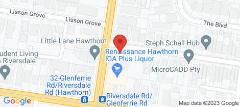 Location map for 21/2 Henrietta Street Hawthorn